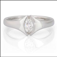 James Newman Bow Marquise Diamond Ring