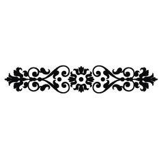 Scroll Rectangle ornament  1