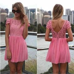 Pink dress....longer please