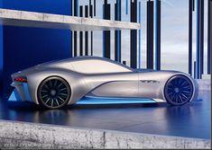 Future technology Futuristic concept of sport car Maserati with VR Technology