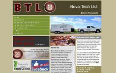 Bova-Tech Ltd. Embryo Transplants, block website design, green, tan, grey,