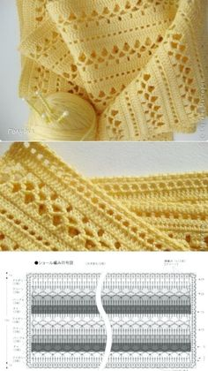 Tutorial: Crochet chart reading Explained nicely for a beginner.Discover thousands of images about Tutorial: Crochet chart readingCROCHET - Lovely Feminine Wide Boarder Lattice Stitch Pattern (Asian Pattern, Found on Russian Website (allmyhobby. Crochet Shawl Diagram, Filet Crochet, Crochet Poncho, Crochet Chart, Crochet Motif, Baby Blanket Crochet, Crochet Doilies, Crochet Lace, Crochet Scarves