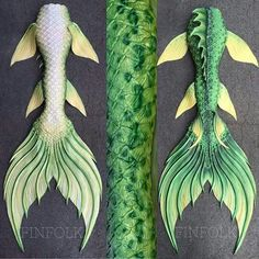 Full Silicone Mermaid Tail by Finfolk Productions. This tail was based off of a freshwater bass.