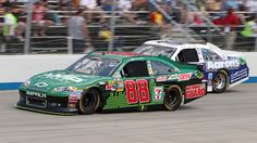 Dale Earnhardt Jr. raced inside the top five for the majority of Sunday's FedEx 400 benefiting Autism Speaks en route to a fourth-place finish.