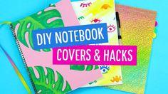 DIY Back to School Notebook Covers & Hacks!  Sea Lemon