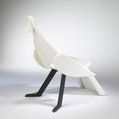 CLAUDE AND FRANCOIS-XAVIER LALANNE, ATTRIBUTION    Bird chair    France, c. 1969  painted wood  25 w x 36 d x 39.5 h inches