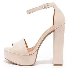 Steve Madden Dezzzy Tan Leather Platform High Heels ($109