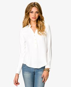 $20 Essential Georgette Top | FOREVER21 - 2021839451 sold out in XS :(