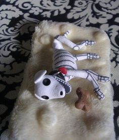 Day of the Dead Art Skeleton Dog by ClayLindo on Etsy