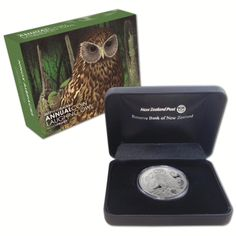 Laughing Owl Pure Silver Coin from New Zealand Mint Coins, Silver Coins, New Zealand, Laughing, Owl, Pure Products, Silver Quarters, Owls