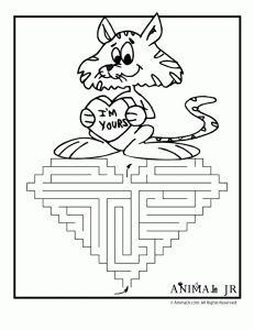 I'm Yours Heart Printable Valentine Maze