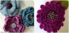 Why should knitters let crocheters have all the fun with appliques and upcycling old things into fun new things? Make an i-cord flower this week and update Knitting Patterns Free, Knit Patterns, Free Knitting, Knitting Ideas, Flower Applique Patterns, Knit Crochet, Crochet Hats, I Cord, Knitted Flowers