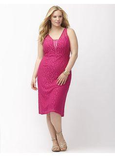 Marina plus size lace cocktail dress