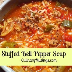 Stuffed Bell Pepper Soup In The Dutch Oven - 50 Campfires