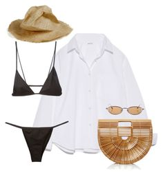 A fashion look from December 2016 featuring shirt top, bikini swimwear and brown purse. Browse and shop related looks. Cute Swag Outfits, Edgy Outfits, Classy Outfits, Summer Outfits, Girl Outfits, Fashion Outfits, Mode Streetwear, Polyvore Outfits, Look Fashion