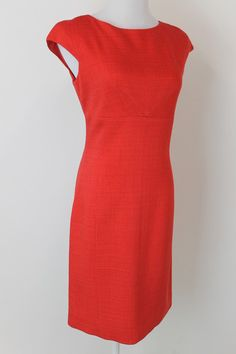 Dolce Gabbana Red Dress with Back Zipper Detail Sz 42 | eBay Great dress for the Holiday season