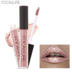 Focallure 액체 매트 립스틱 립글로스 카멜레온 금속 립스틱 쉬머 반짝이 립글로스 6 미리리터 립글로스 립 키트