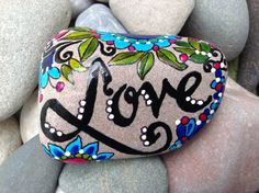 Love+/+Painted+Rock+/+Sandi+Pike+Foundas+/+Cape+by+LoveFromCapeCod,+$55.00