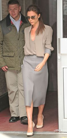 Just love this outfit more than anything! Victoria Beckham in Victoria Beckham