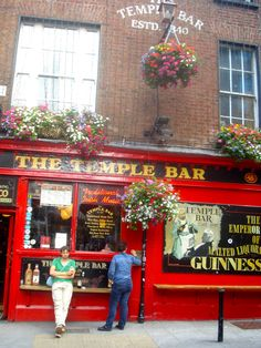Temple Bar - Dublin. Fab. bar with indoor seating and court yard.