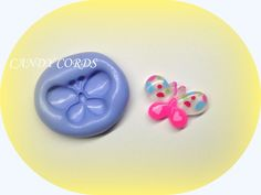 1 Little Butterly Cab Silicone Flexible Moulds Mold Resin Sculpey Cake Making