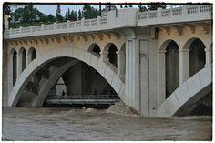 Center Street Bridge during the flood of June 2013.