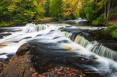 Waterfall Photography Bond Falls Fall Colors Michigan Fine