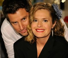 James Roday & Maggie Lawson from the show Psych (they are a couple in the show and in real life)