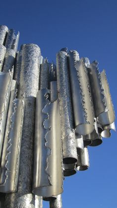 The Sibelius Monument in Helsinki, Finland. A whole park dedicated to musicial Sibelius with this terrific monument!
