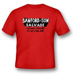 Sanford and Son Salvage Junk Tshirt by Dreams2things on Etsy