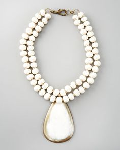 Horn Pendant Necklace by Nest at Neiman Marcus.