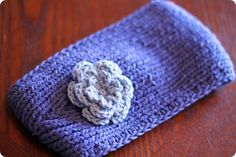 Crocheting the Day Away: Purple Knitted Ear Warmer