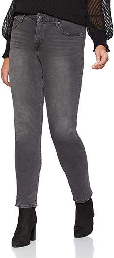 Klasse Hose  Bekleidung, Damen, Jeanshosen Skinny Jeans, Plus Size, Grey, Pants, Fashion, Summer, Clothing, Gray, Trouser Pants