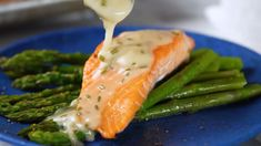 Roasted Salmon with White Wine Sauce Shellfish Recipes, Seafood Recipes, Cooking Recipes, Fish Dinner, Seafood Dinner, Roasted Salmon, Baked Salmon, White Sauce Recipes, Salmon With White Sauce Recipe