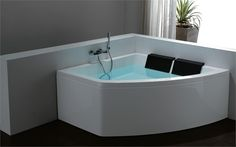 Coral bath with front panel