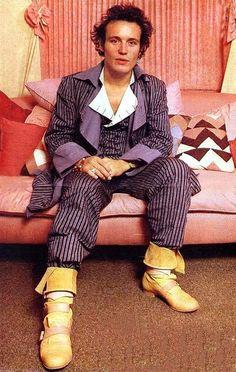 Adam Ant dressed head to toe in Vivienne Westwood sometime in the early eighties