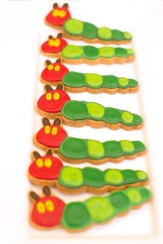 Cute cookies at a Very Hungry Caterpillar birthday party!  See more party ideas at CatchMyParty.com!