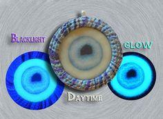 Glow in the Dark Eyeball Pendant EyeGloArts Handmade by EyeGloArts, $45.00