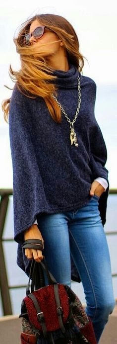 11/12/14 comfy day! jeans navy thick throw and boots