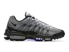 huge selection of 7e728 aa4e9 Nike Sale Chaussures Nike Air Max 95 Ultra Jacquard Prix Femme Pas Cher Noir  Blanc