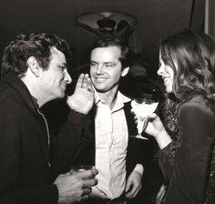 Peter Falk, Jack Nicholson and Michelle Phillips, 1971