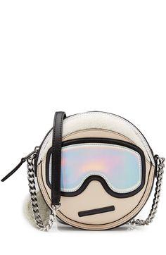 KARL LAGERFELD Leather Shoulder Bag. #karllagerfeld #bags #shoulder bags #leather #polyester #
