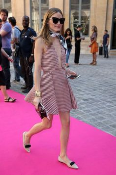 30 Times Olivia Palermo Was The Ultimate Street Style MVP #refinery29  http://www.refinery29.com/olivia-palermo-style-pictures#slide-19  When at Paris Haute Couture, do as the Parisians do: Tie a scarf on it....