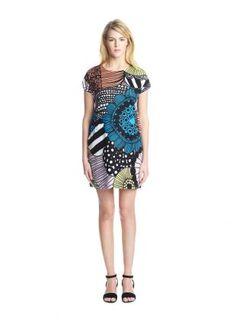 Gili dress, multicolor, by Marimekko. Marimekko Dress, Dress Skirt, Spring Fashion, What To Wear, Style Me, White Dress, Short Sleeve Dresses, Dresses For Work, Yellow