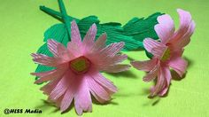 How to Make Beautiful daisy DIY Origami crepe paper Flower craft easy.paper  flower tutorials