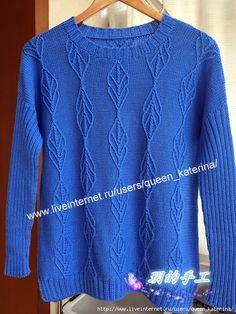 2 (500x666, 384Kb)Синий японский пуловер