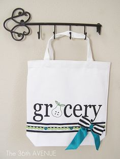 Make a DIY Stenciled Grocery Tote (easy sewing tutorial)