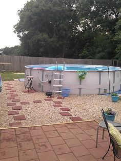 Landscaping around Above Ground Pool.http://www.poolsoftupelo.com/abovegroundpools.htm