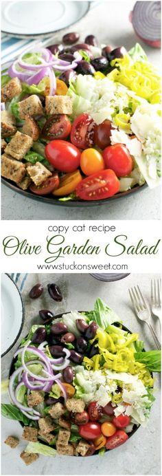 Copy Cat Olive Garden Salad   www.stuckonsweet.com