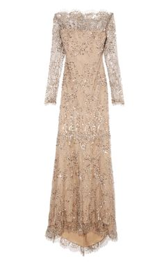 DESIGNER: MARCHESA SEE DETAILS HERE:Beaded Lace Gown